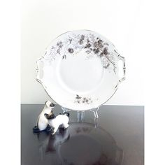 ON SALE Antique Aesthetic Design Canape Plate Vintage Serving Platter... ($28) ❤ liked on Polyvore featuring home, kitchen & dining and serveware