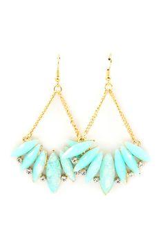 Iridescent Skylar Chandelier Earrings