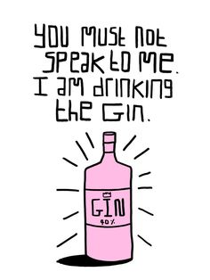El Famoso Prints — I am Drinking the Gin! - A5 Risograph