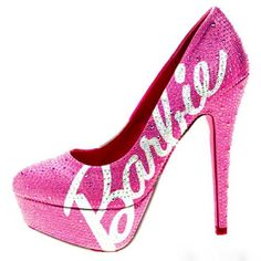 ::Barbie high heels:: woman's fashion, glamour, pink, style, design, sparkle, dazzle, glitter, diva