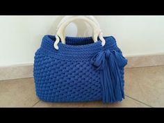Tutorial borsa all'uncinetto. | How to crochet a bag - YouTube