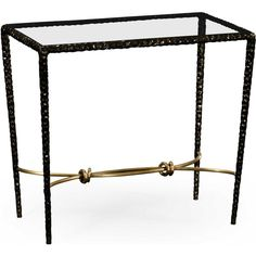 Jonathan Charles Stiletto Antique Black With Highlight 28 x 16... ($2,093) ❤ liked on Polyvore featuring home, furniture, tables, accent tables, rectangular console table, antique black furniture, antique black table, rectangle table and rectangular accent table