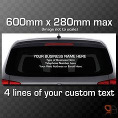 FREE SHIPPING Custom Car Decal Choose The Font Style By DecalChic - Custom car decals business