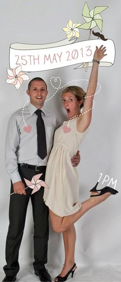 Photo and illustrated wedding invite. The fun that can be had!