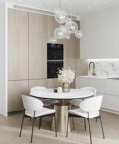 Minimal Kitchen Design, Kitchen Room Design, Kitchen Dining, Dining Room, Dining Table, Minimalism, Interior, House, Inspiration