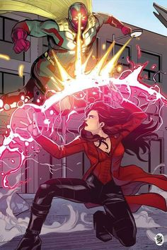 The Vision vs Scarlet Witch by ChickenzPunkYou can find Scarlet witch and more on our website.The Vision vs Scarlet Witch by ChickenzPunk Marvel Memes, Marvel Dc Comics, Marvel Avengers, Captain Marvel, Scarlet Witch Avengers, Scarlet Witch Comic, Wanda Marvel, Arte Nerd, Marvel Drawings