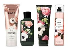 - 4 Pc Bath & Body Works Rose Gift Set- Fragrance Mist, Body Wash, Cream & Lotion The - Bath Body Works, Bath And Body Sale, Bath And Body Perfume, Victoria Secret Fragrances, Rose Gift, Fragrance Mist, Body Wash, Body Lotion, Mists