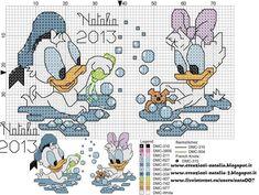 Patrón: Pato Donald y Daisy.