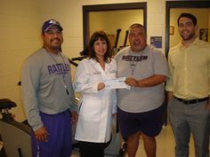 One-hundred twenty-nine students from San Marcos High School received athletic physicals at a discounted rate of $20. The $2,580 that was collected was donated back to the school's athletic department.