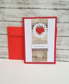 Hochzeitskarten - Karte zum Hochzeitstag HERZ  - ein Designerstück von POMMPLA bei DaWanda
