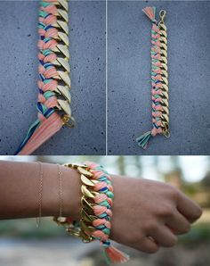 Collar trenzado DIY: paso a paso