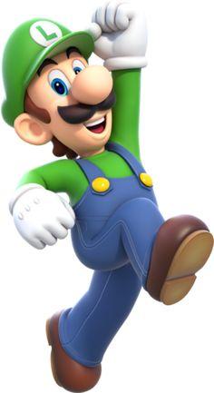 Luigi Artwork (alt) - Super Mario World Super Mario Brothers, New Super Mario Bros, Super Mario Birthday, Mario Birthday Party, Bolo Super Mario, Super Mario And Luigi, Super Mario Party, Mario Kart, Super Smash Bros