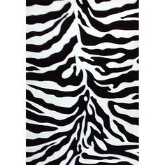 Generations Black Zebra Rug (5'2 x 7'2) (Rich colors, exquisitely hand-carved)