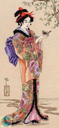 Janlynn - Geisha - Cross Stitch World