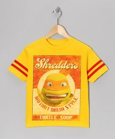 Take a look at this Yellow TMNT 'Turtle Soup' Tee - Kids by Teenage Mutant Ninja Turtles on #zulily today!