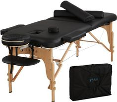 OMG, this thing takes forever to off-gas.  However, you're probably not going to find a better massage table for the price.  I am impressed with how sturdy it is.