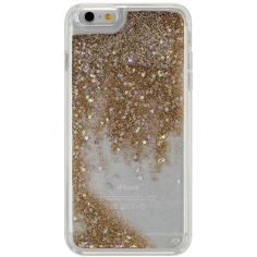 Agent18 Gold Glittershield iPhone 6/6S Plus Case ($15) ❤ liked on Polyvore featuring accessories, tech accessories and agent 18