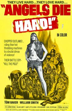 angels die hard | biker movie poster