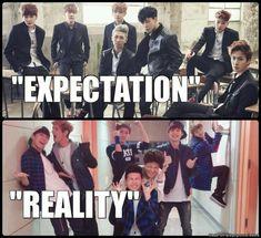 BTS expectativa vs realidad