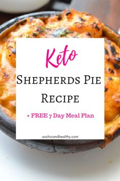 Are you looking for the ultimate low carb comfort food? This keto shepherds pie is the perfect dinner recipe for weight loss. It is easy to make and you can add this to your meal prep for a quick weeknight dinner. The whole family will love this. It is keto diet/plan approved. Repin to remember. Ketogenic Recipes, Low Carb Recipes, Healthy Recipes, Healthy Lunches, Ketogenic Diet, Healthy Food, Healthy Facts, Dessert For Dinner, Keto Dinner