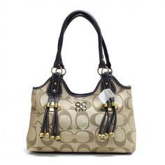 Coach Fashion Monogram Large Khaki Satchels BUG Coach Handbags Outlet 2572f60d2fc06
