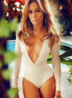 Jennifer Lopez's Instagram Complex Magazine Shoot AQ:AQ Ruthie Long Sleeve Bodysuit