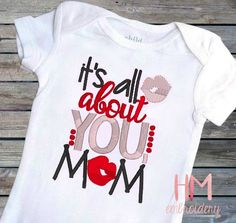 It's All About You Mom  Mother's Day Embroidered by HMembroidery