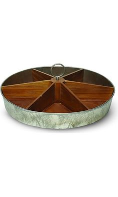 Foreside Galvanized Wood Caddy, 20-Inch Best Price
