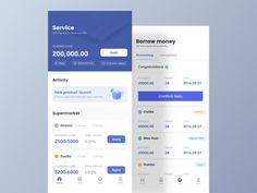 """Financial App by Bobbi from Bei Jing⠀ .⠀⠀⠀ """"This work is part of the project I am working on. The design size is iPhone X. The design… Web Design, App Ui Design, Interface Design, User Interface, Design Layouts, Flat Design, Brochure Design, Ui Design Mobile, Ui Design Inspiration"""