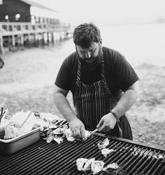 Oyster Shucking Station with Live Chef Action for Cocktail Hour