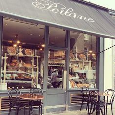 @painpoilane Poilane on Elizabeth street's first day serving soba tea and having chairs to sit down to enjoy it