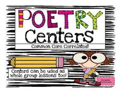 This resource includes 75 printable {usable} pages that can be used to launch poetry centers in your classroom as each skill/strategy is introduced. - never thought about doing poetry as centers. Teaching Poetry, Teaching Language Arts, Classroom Language, Classroom Fun, Teaching Writing, Teaching Ideas, Future Classroom, Teaching Tools, 3rd Grade Reading