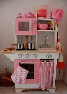 Kid 39 s kitchen set on pinterest play kitchens kid for Girls kids kitchen
