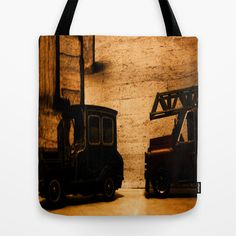 Lost Cars Six Tote Bag by Four Hands Art - $22.00