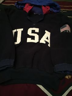 Vintage Ralph Lauren Polo USA Superman Fleece S 92 Stadium Bear P wing