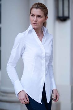 Perfekcija Shirts UMA Perfect White Shirt, contemporary classic styling, inspired by the iconic movie Pulp Fiction. £90.