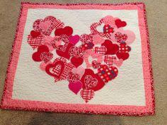 Valentine quilt for podium