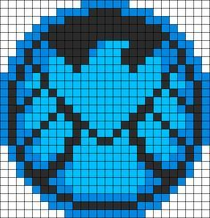 SHIELD Perler Bead Pattern / Bead Sprite