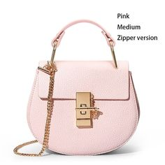2018 Popular Fashion Brand Genuine Leather fake designer handbags chain  Cloe shoulder women leather bag crossbody 8767b44649