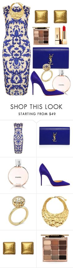 """Date"" by debbie-grajeda ❤ liked on Polyvore featuring Alice + Olivia, Yves Saint Laurent, Chanel, Christian Louboutin, Ben-Amun, Gurhan and Stila"