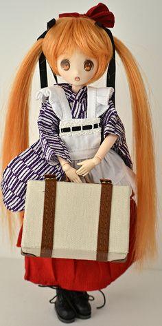 21cm Little Ai-chan kimono maid set