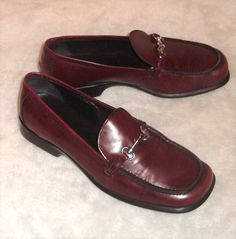 1397fb36b1f Coach Sz 8.5B Cherry Red Horse Bit Buckle Comfort Loafers Cherie J729   Coach  ComfortLoafer