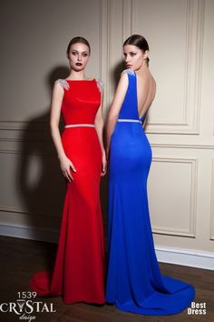 2015 Sexy Backless Beaded Sequin Evening Dresses Red Royal Blue Sheath  Women Formal Gowns Elegant Long Special Prom Dress Zc05 Long Formal Dress  Maternity ... 4a9eba41bd7f