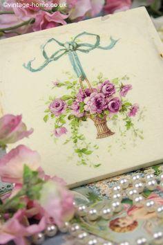 Vintage Home - Sweet Basket of Roses Victorian Tile - www.vintage-home.co.uk