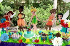 Fairy centerpieces.  Go to my blog at www.funjani.blogspot (parties tab) to see how YOU can do this.