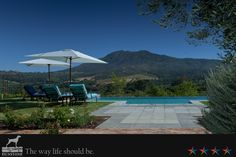 Dunstone offers you a taste of everything the western cape, South Africa has to offer. Luxury accommodation, fine wine and great food. Out Of Africa, Luxury Accommodation, Cape Town, Countryside, South Africa, Restaurant, Patio, Book, Outdoor Decor