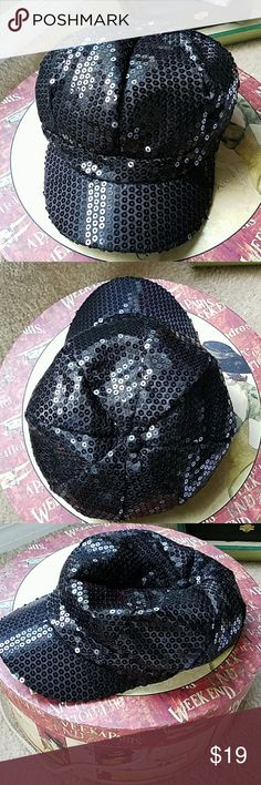 Awesome seqin hat Fits well with elastic, perfect condition Accessories Hats