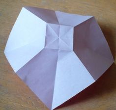 Let's create: Paper Bow Tutorial Origami Love Heart, Origami Star Box, Origami Fish, Origami Stars, Diy Origami, Origami Folding, Bow Tutorial, Origami Tutorial, Origami For Beginners