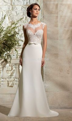 Ivory Informal Wedding Dresses - Wedding Dresses for Fall Check more at http://svesty.com/ivory-informal-wedding-dresses/