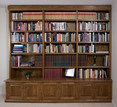 Handmade Bookcases, built-in by Downing Fine Woodworking | CustomMade.com
